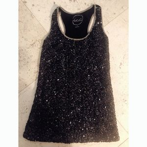 INC International Concepts Women's Sequined Tank